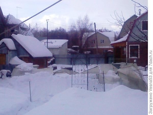 Руины теплицы после зимы 2010 - 2011 годов.