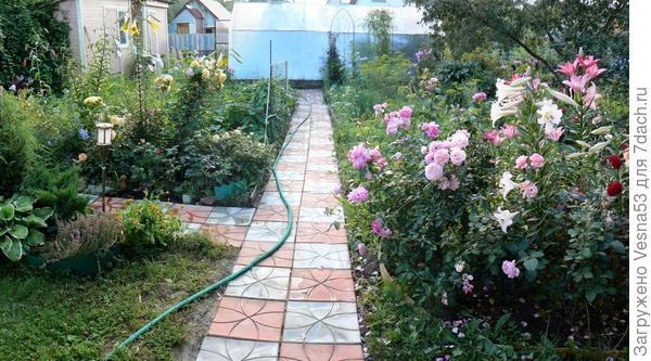 Июнь 2012 г.Не надо грязи!  Новая дорожка из плитки.
