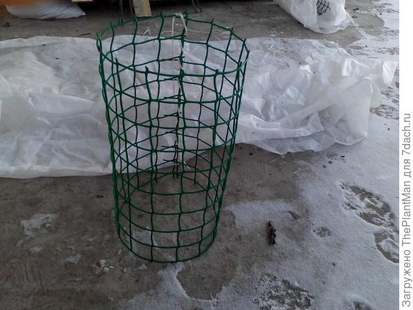 каркас из садовой сетки