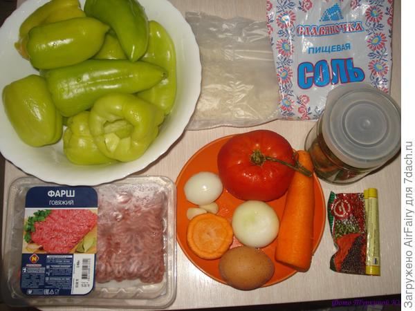 Фаршированные перчики - пошаговый рецепт приготовления с фото