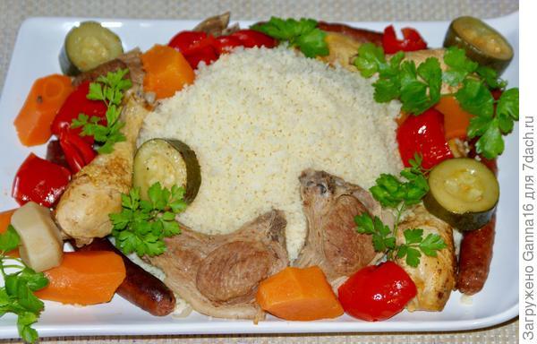 Кус-кус с мясом и овощами