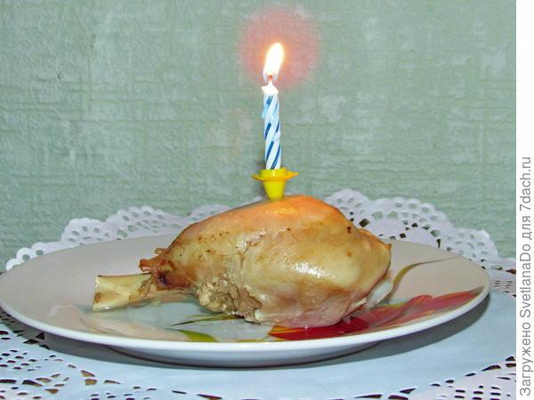 """""""кусочек"""" тортика  с Дня рождения Бимаса (10 октября)"""