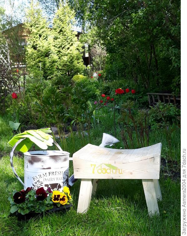 Новая садовая  скамеечка- помощница