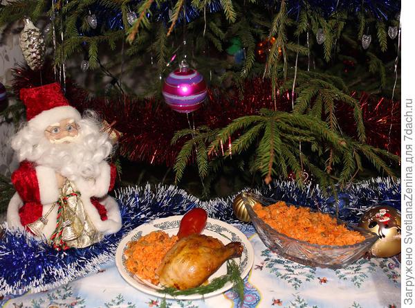 Рождественская запеченная курочка