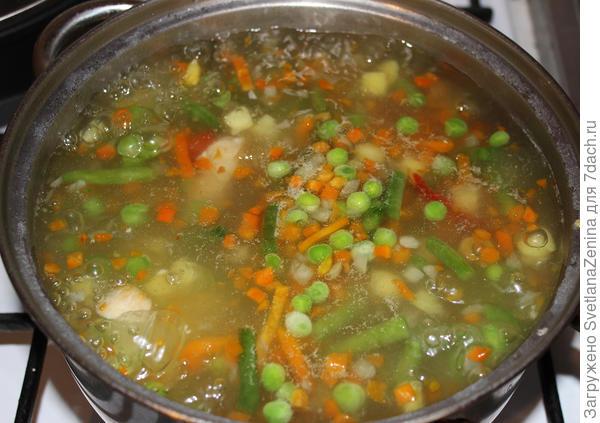 варим овощи 10 минут