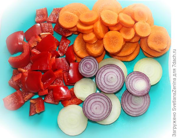 Цветная капуста, маринованная с овощами - пошаговый рецепт приготовления с фото