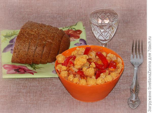 Очень вкусный салат из цветной капусты с овощами - пошаговый рецепт приготовления с фото
