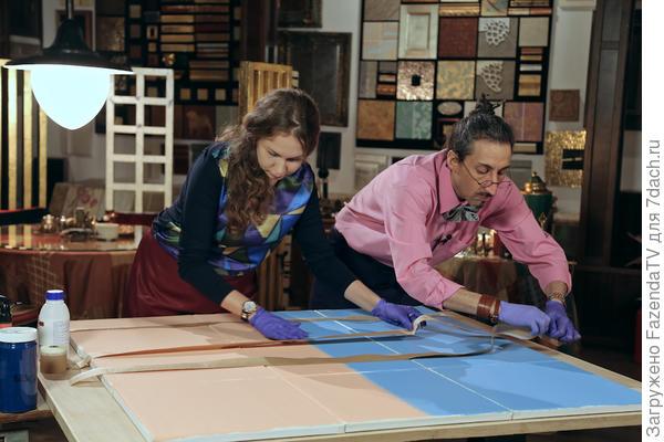 Декоратор Марат Ка и дизайнер Регина Урм для программы Фазенда