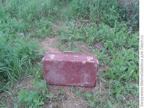 итак нашли чемодан. затем помыли его внутри и снаружи. высушили