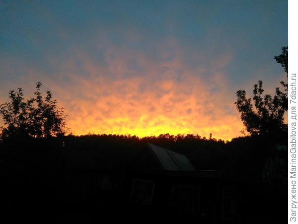 а потом начался чудесный закат