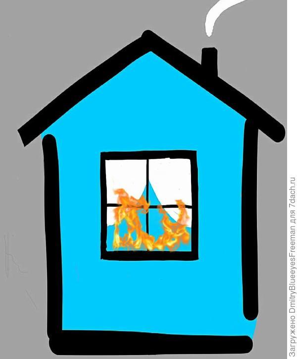 Возгорание в жилом доме