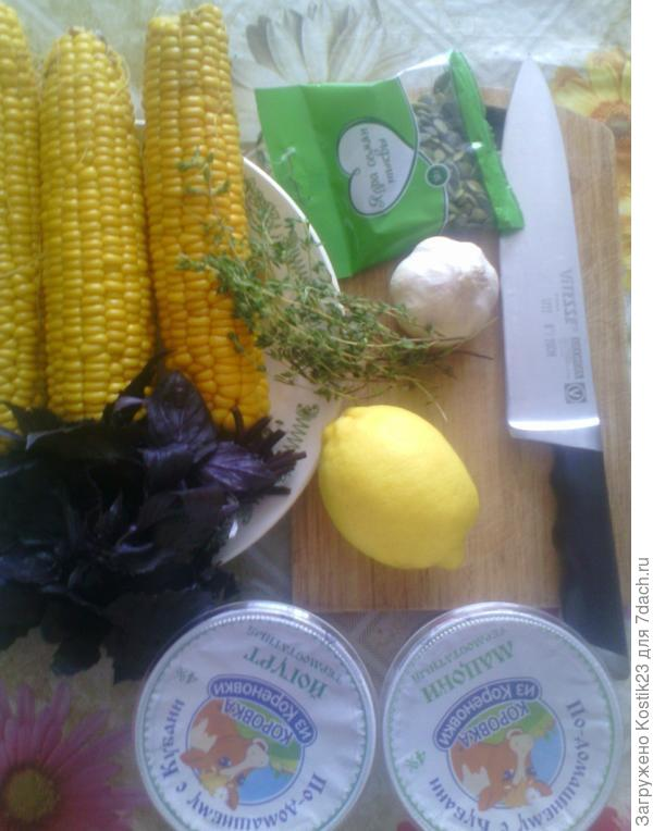 Что нужно для холодного супа из молодой кукурузы.