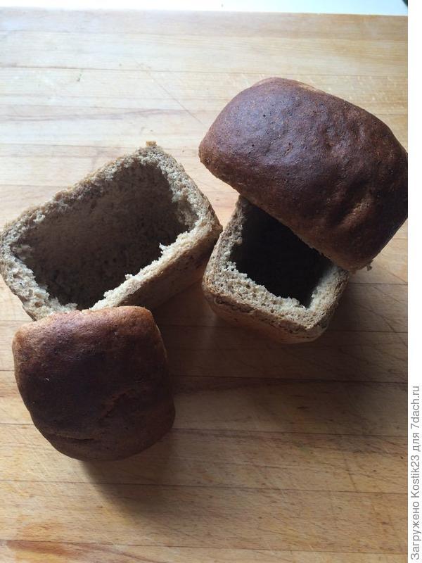 """Готовые хлебные """"тарелки"""""""
