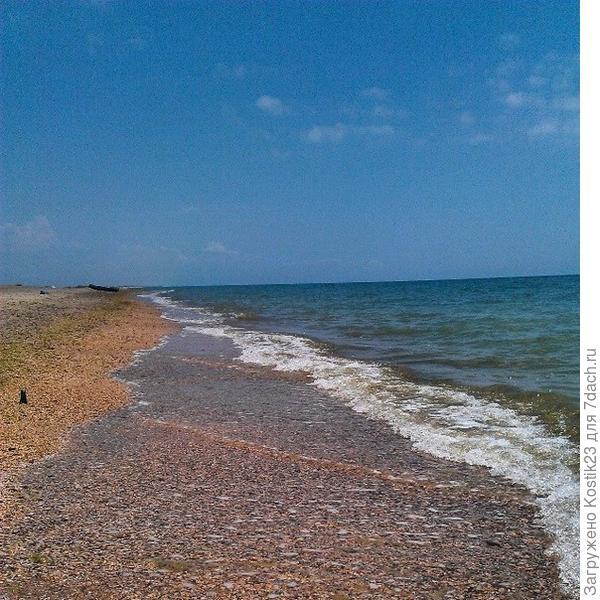Коса...песок и море...