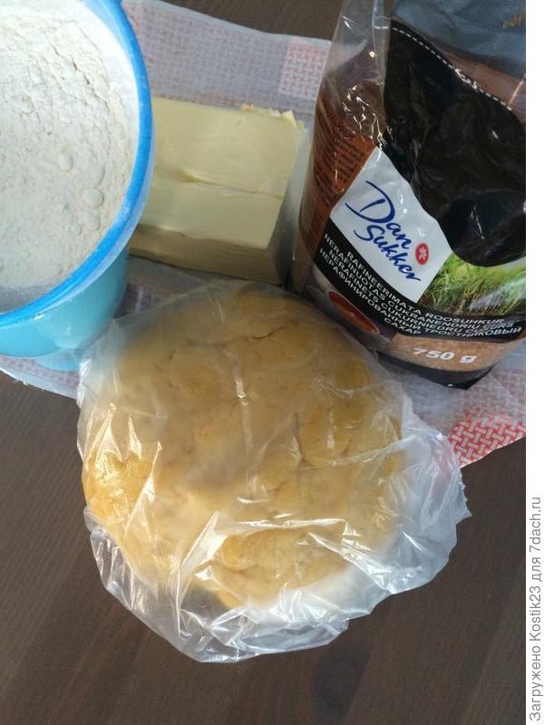 Завернуть тесто в плёнку и в холодильник на 5-10 минут