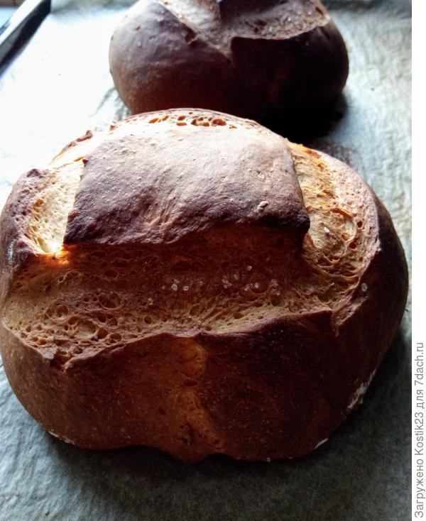 Хлеб готов , достаньте его из духовки...