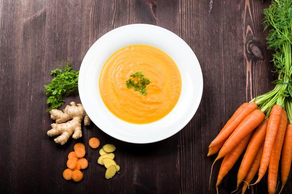 Морковный суп с имбирем