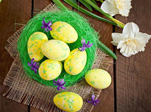 Пестрые яйца