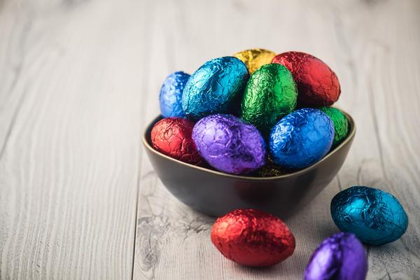 Яйца в фольге