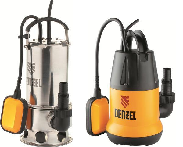 Погружные дренажные насосы: Denzel DP1100X и Denzel DP250