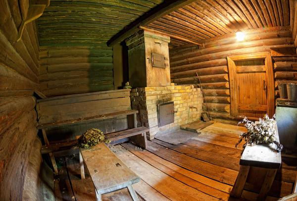 Интерьер сельской бани
