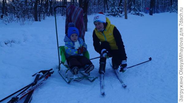 Зимой лыжи