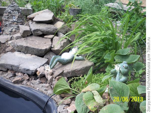 Создание небольшого водопада возле водоёма