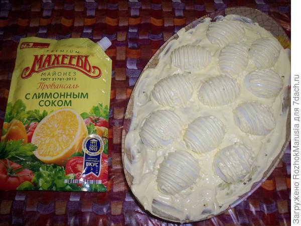 Салат; Сугробы; пошаговый рецепт приготовления с фото
