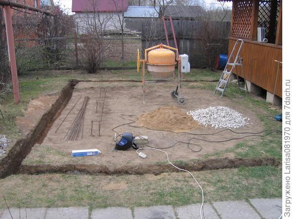 Разметка площадки под ленточный фундамент.
