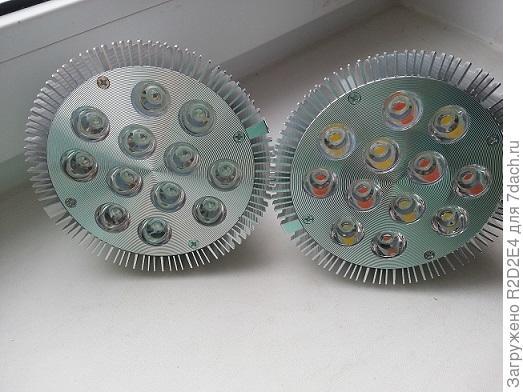 Различия диодных фито ламп фуллспектр и биколор