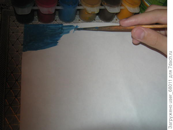 Разукрашиваем картон гуашью