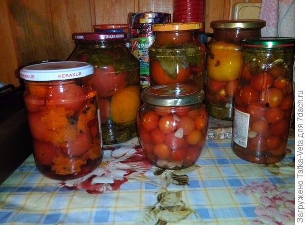 Еще немного помидорок на зиму...