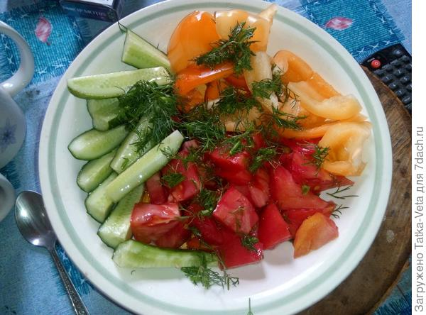 Настоящий дачный салатик))