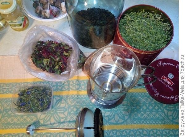 Иван чай с монардой, лавандой и чабрецом