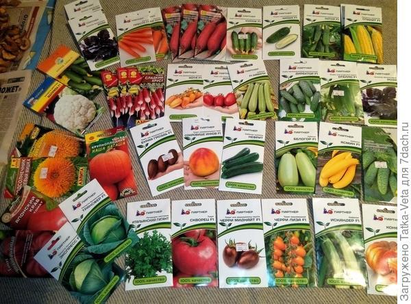 Купила много разных семян!