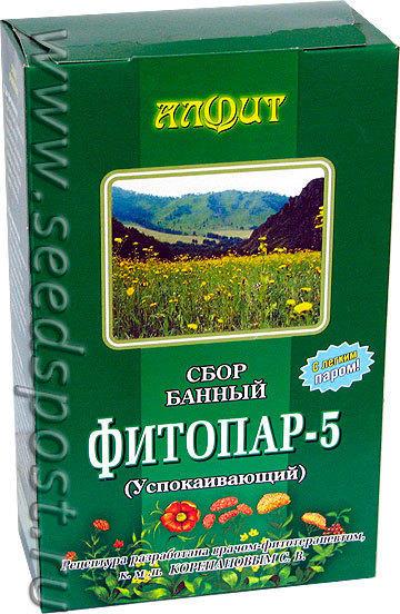 Банный сбор Фитопар-5 Успокаивающий, 500 г (20 фильтр-пакетов по 25 г)