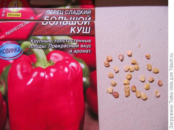 Семена сладкого перца Большой куш.