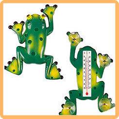 Термометр оконный для крепления на стекло Лягушка, 17,5*23,5 см