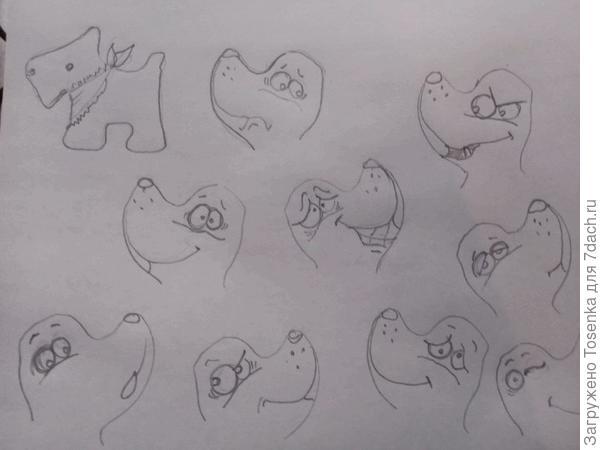 Рисунки -схемы для росписи мордашек