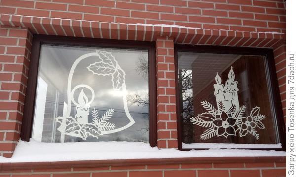Украшение на окнах веранды