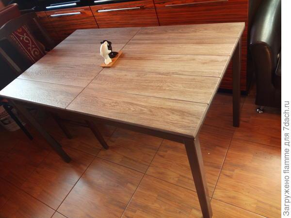 реставрация стола плиткой