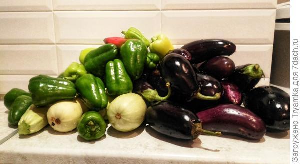 Предмет особой гордости -овощи!
