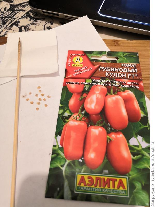 подготовка к посеву Рубиновый кулон.