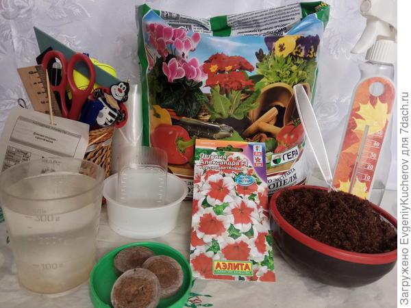 подготовил необходимое для посева семян