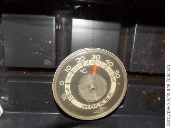 Температура зашкаливает на 30 градусах)))