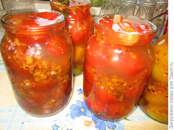Помидоры в овощном маринаде - пошаговый рецепт приготовления с фото