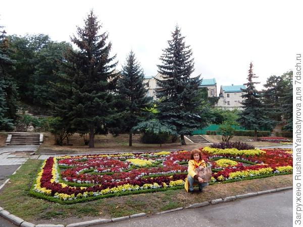 В Цветнике в Пятигорске.