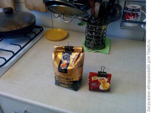 Концелярского зажимы на кухне.