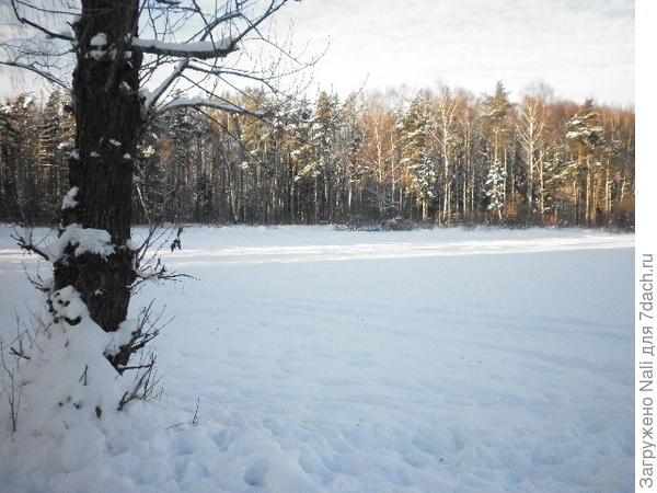 А это озеро Аниськино, совсем рядом с жилыми домами. Оно неглубокое, в отличие от Бабошкина, и там летом купается детвора.