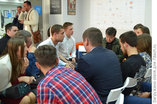 Встреча участников конкурса с наставником
